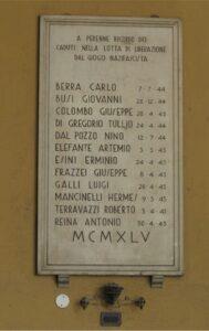 I 12 caduti della Compagnia Generale Elettrica – Via Bergognone 30